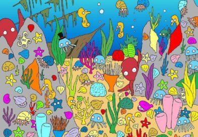 Na obrázku se ukryla ryba. Najdete ji?